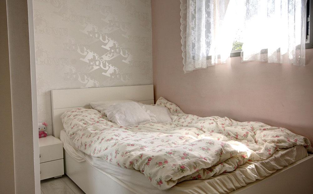 טפט מגוון בחדר שינה