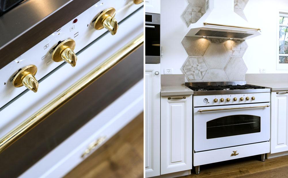 תנור מעוצב במטבח