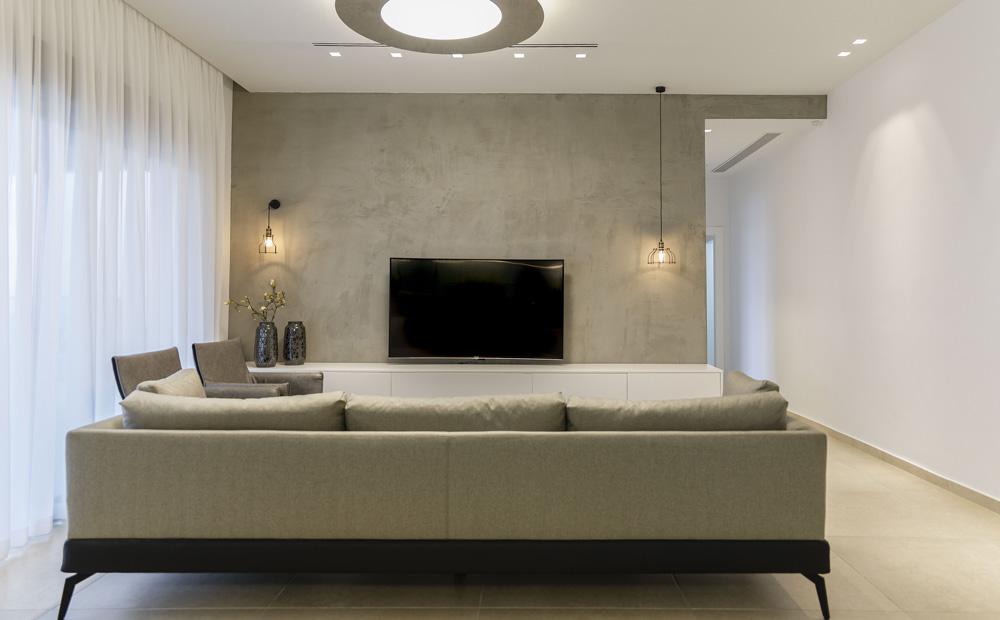ספה מודרנית בסלון