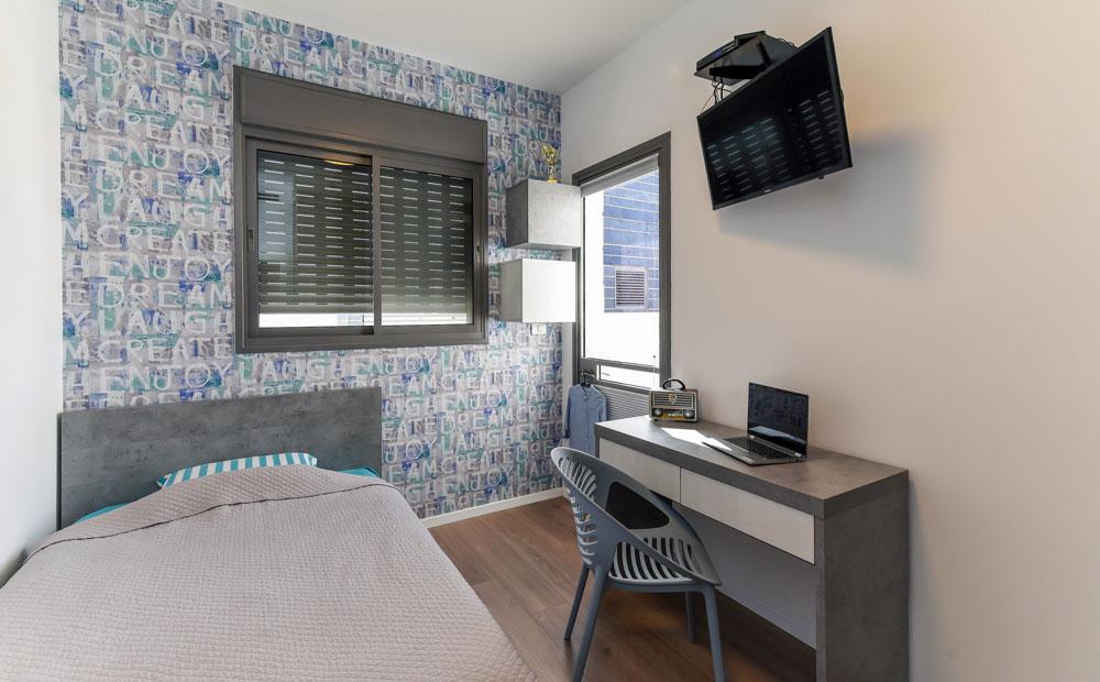 חדר שינה מעוצב לבן