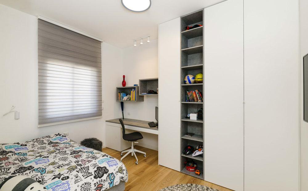 חדר שינה ילדים בעיצוב אפור